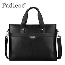 Padieoe New Fashion Men's Business Shoulder Bag Famous Designer Handbags Genuine Leather Briefcase High Quality Messenger Bags