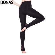 BONAS Women Warm Leggings Plus Size Fitness Soft Comfortable Leggins Push Up Average Winter D005