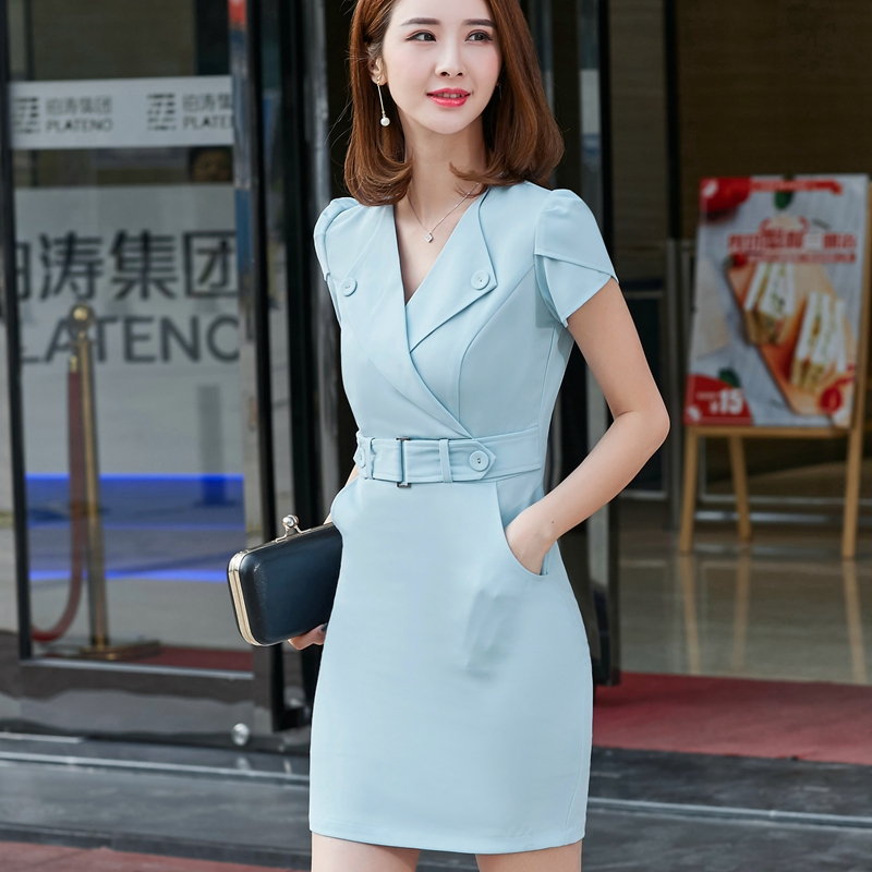 Summer Office Dress Women Elegant Business Work Wear Formal Dresses Y Party Plus Size Clothing In From S
