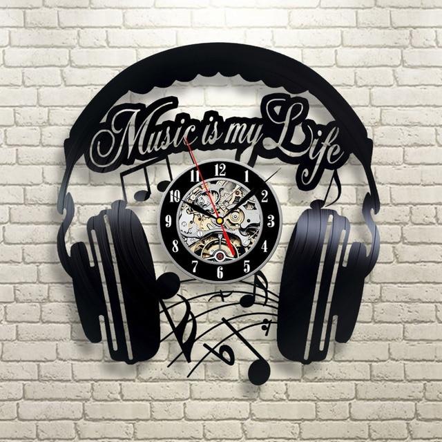 CD Виниловая пластинка современные настенные часы Домашний Декор классические часы Relogio