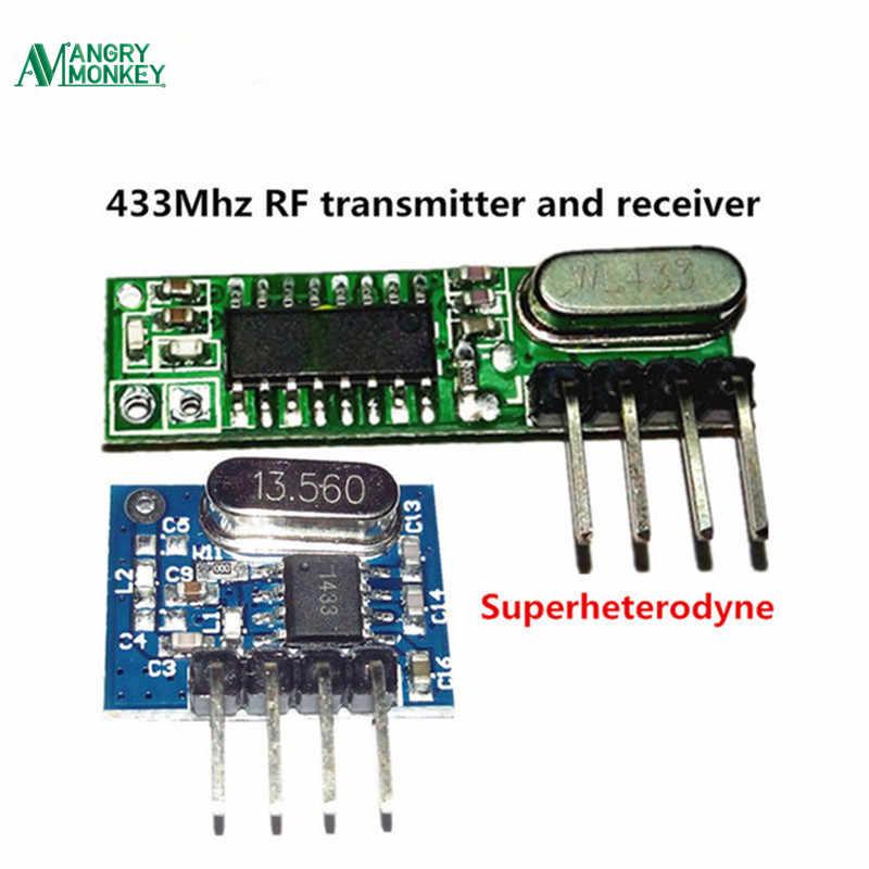 1 Conjunto De Kit De Módulo De Transmisor Y Receptor De Radiofrecuencia Superheterodine De 433mhz Tamaño Pequeño Para Arduino Uno Kits De Bricolaje De