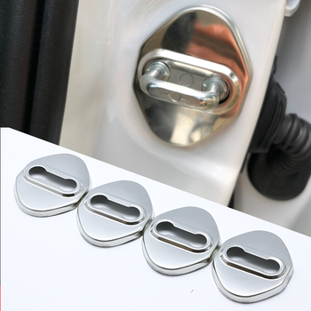 Excellent Stainless Steel Door Lock Buckle Protective Cover Auto Case For Mazda MX-5 MX5 MX 5 NB NC ND Car Styling image