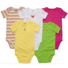 Bebek erkek Bodysuits vücut bebek kız ropa bebe bebe Yenidoğan giysileri ay tulumlar Gömlek