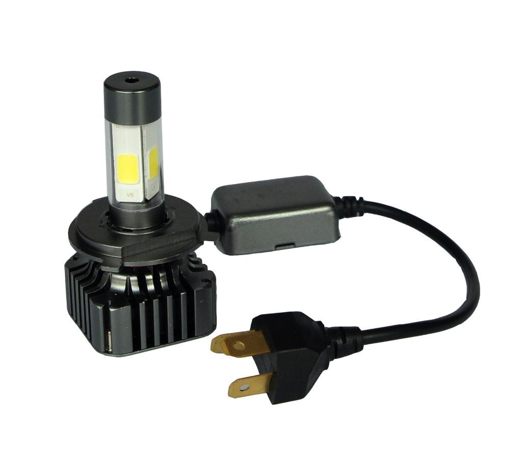 V8S COB Car LED Headlight 80W 12000LM H4 Hi-Lo Beam High Power 6000K Strong Bright Car Headlight Fog Light Conversion Kit