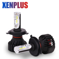 Xenplus 2pc H7 Led Car Headlight bulb H4 H11 H3 H1 H8 H13 HB3 HB4 9006 9005 9007 Hi Lo Beam 8000LM 60W 12V ZES Fog lamp for auto