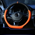 D ring Car Steering Wheel Cover Grips Accessories for Volkswagen VW Golf 7 GTi Mk7 Golf7 Scirocco Passat B7 B8 Polo 2015