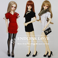 Fashion Lotus Fold Dress 3colors for BJD 1/3 SD10/13/16  LUTS.DOD.AS Doll Clothes CWB19