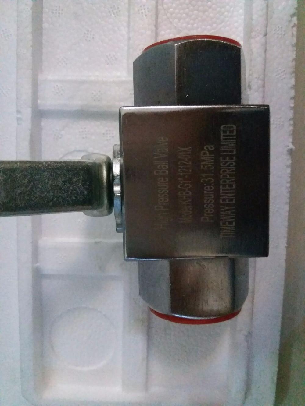 Hydraulic ball valve KHB-G1-1212-01X  high pressure valve