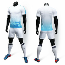 New adult short-sleeved casual football jersey sports suit 2019 mens soccer uniform custom name logo