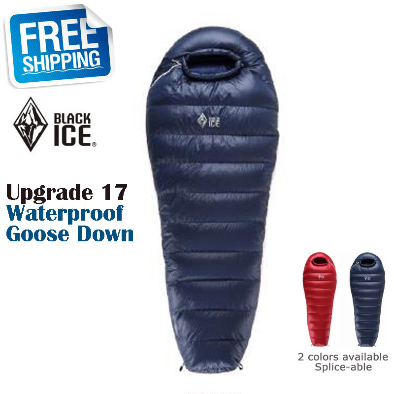 Blackice Upgrade G400 Mummy Splicing Single 75x190cm 80x205cm Light Waterproof Goose Down Sleeping Bag with Carrying