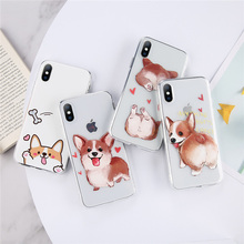 Moskado Cute Cases For iPhone XS Max 7 8 Plus X XR Soft Silicone Fundas 6 6S 5 5S SE Cartoon Dog Phone Case Capa