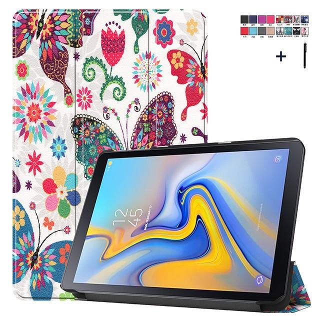 Funda de cuero con tapa para Samsung Galaxy Tab Advanced 2, protector con estampado de SM T583 de 10,1 pulgadas, funda con soporte para Samsung SM T583