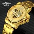 GEWINNER 2019 Luxus Frauen Wataches Automatische Mechanische Herz Skeleton Uhr Dial Goldene Edelstahl Band Damen Armbanduhr|Damenuhren|Uhren -