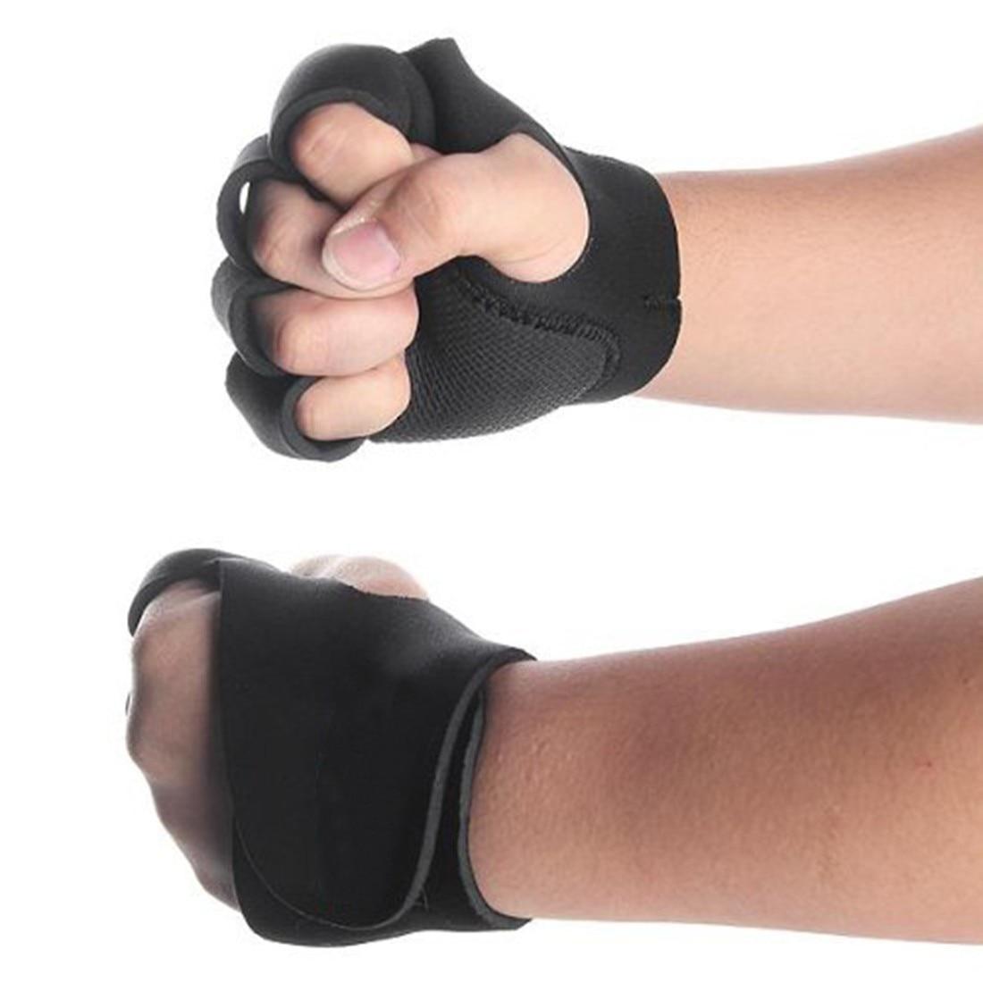 Nice Elastic Training Exercises Wristband Outdoor Sports Hand Wrist Brace Black Wrist Support Gloves