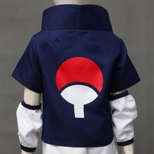 Naruto Uchiha Sasuke Cosplay Costume and blue headband custom made Any size