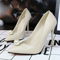women pumps Korean fashion shoes sweet fine with high-heeled shoes Asakuchi pearl pointed high-heeled shoes for women fashion