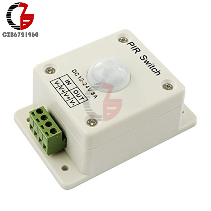 DC 12-24V 8A Infrared Motion Sensor PIR Switch 12V 24V Human Body Automatic Induction for LED Lamp Strips Lighting for kk8 front wheel for vacuum cleaning robot 2pcs pack