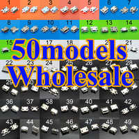 Hot sale 50 models Charging Connector micro usb jack for Samsung ASUS SONY HP HTC ZTE Huawei Xiaomi Redmi Lenovo OPPO Gionee