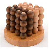 Creative 3D Wooden Board Game For 2 Players Classic IQ Wood Puzzle Brain Teaser Game Educational