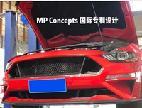 Fit for Ford Mustang 2018 cellular network grille upgrading in the middle and lower network grill grilles