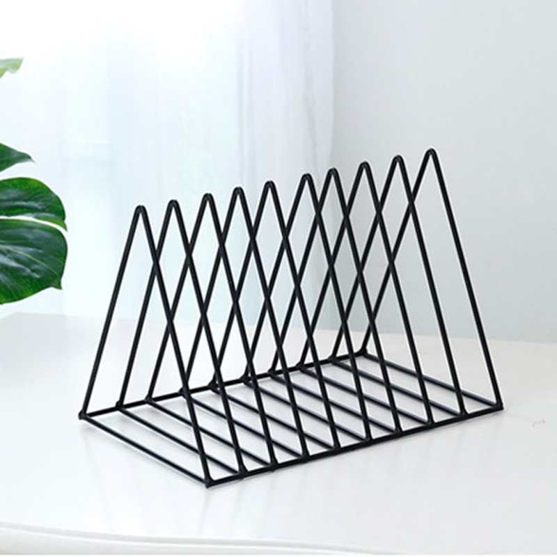 Office & School Supplies Responsible Magazine Holder Desktop Book Storage Rack Iron Triangular Bookshelf Organizing Shelf Bookcase New Magazine Organizer Desk Accessories & Organizer