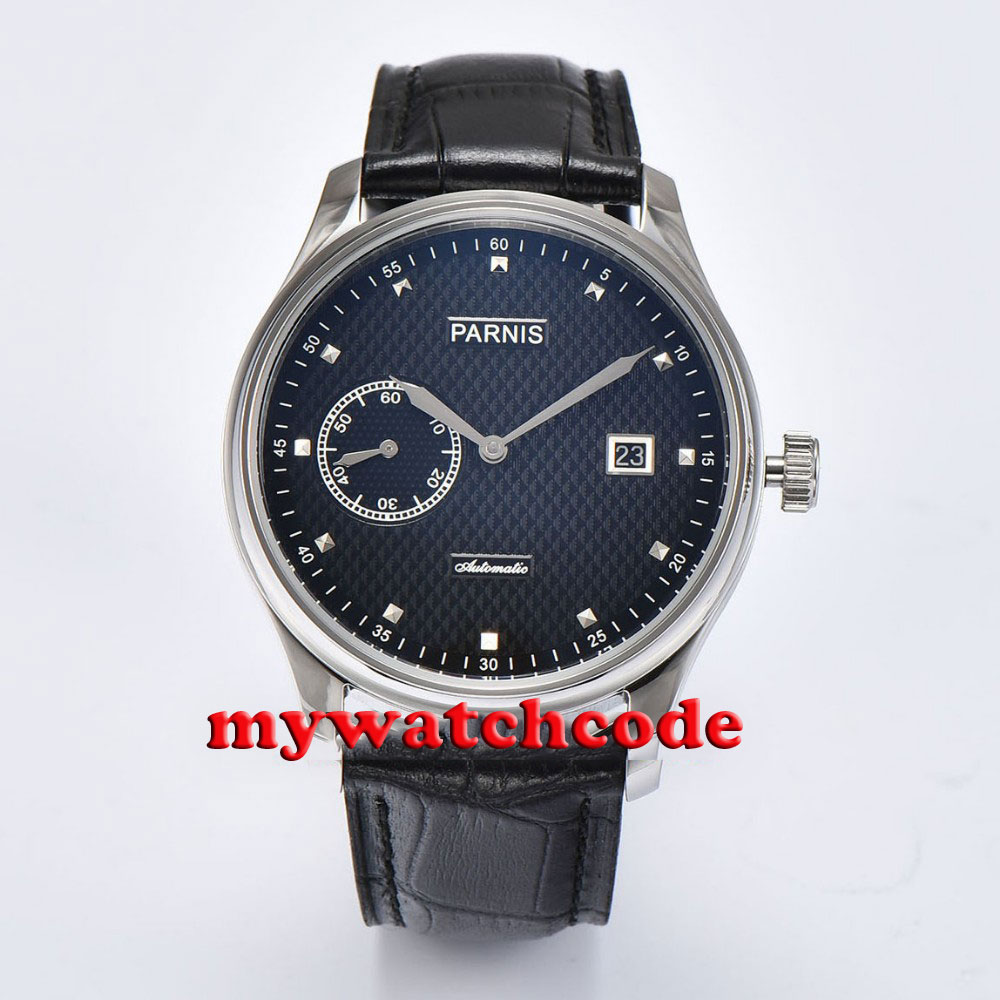 43mm parnis black dial date window ST automatic mens watch P699 лонгслив printio dixie rebel kappa