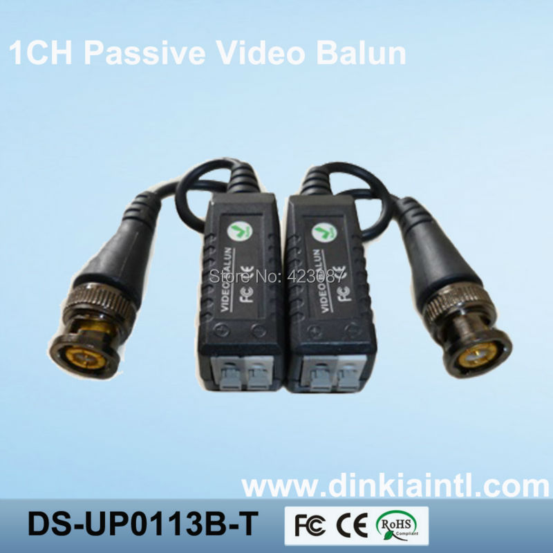 50pcs twisted pair single channel passive video transceiver,outstanding interference rejection balun for CCTV,DS-UP0113B single channel passive video balun grey silver 2 pcs
