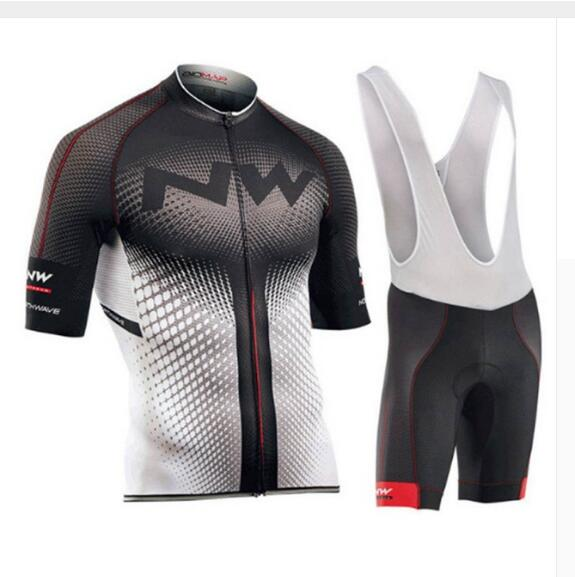 2019 NW Northwave Summer Cycling Jersey Set For Men Short Sleeve Quick Dry Bicycle MTB Bike