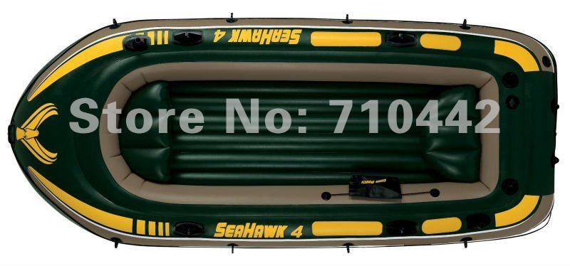 Free shipping 4  people seahawk intex 68351 inflatable rigid rescue boat, pvc inflatable surboat, inflatable plastic boat