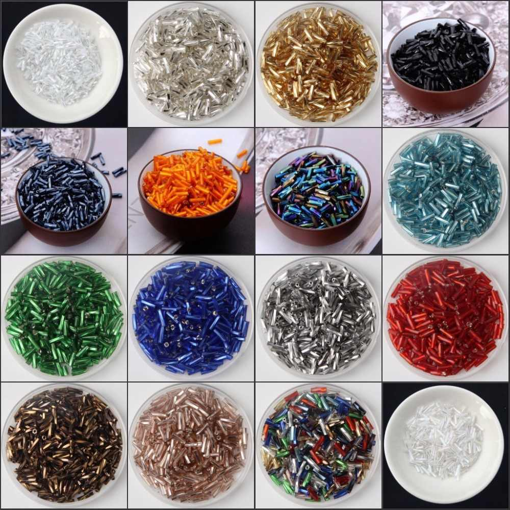 20g/480pcs Size 2x6mm Twist Bugles Glass Loose Seed Spacer Tube Leptospira Beads For jewelry making DIY Garment sew Accessories
