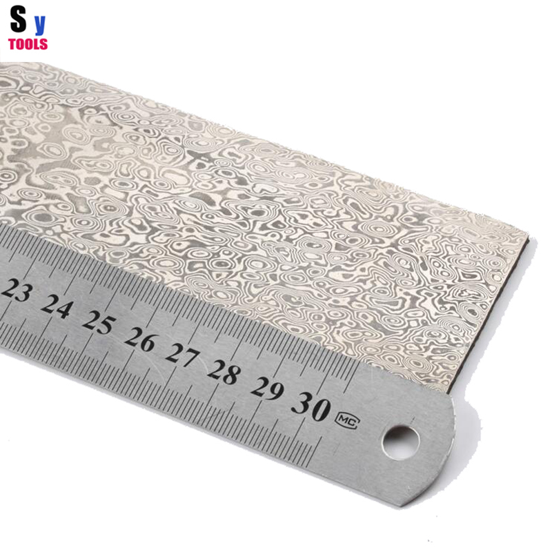 China Pattern steel Chopper steel Damascus diy makes knife materials 320 50 3mm