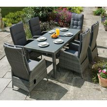 europa leisure tilbury outdoor furniture 6 seater dining set - Rattan Garden Furniture 6 Seater