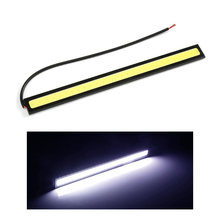 1 Piece Ultra Bright LED Day Running Lights LED Light Strip Car DRL DC 12V 17cm Waterproof Auto COB Driving Fog Lamp(China)