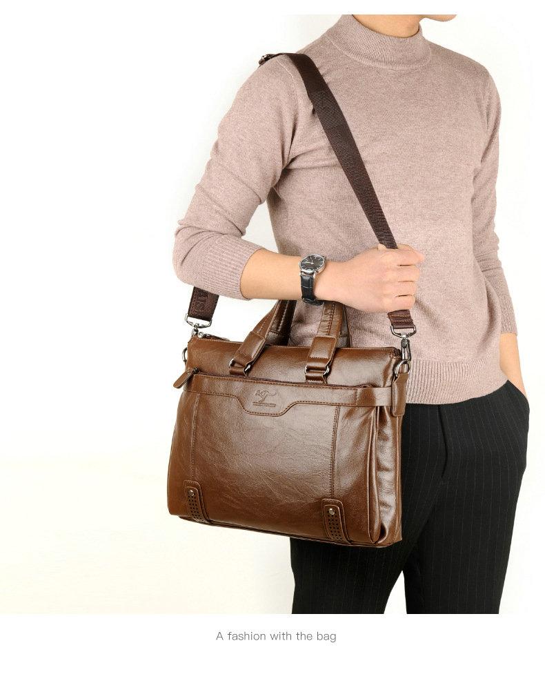 HTB1ZUJEelKw3KVjSZFOq6yrDVXae Cowhide Leather men's Briefcase men laptop male messenger bag Men's shoulder bags briefcases for documents bag