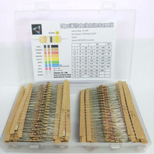 1280pcs Resistor Kit 1/4W 5% 1 Ohm - 10M Ohm 64values X 20pcs Resistencias Resistor Pack Carbon Film Resistors Set Box