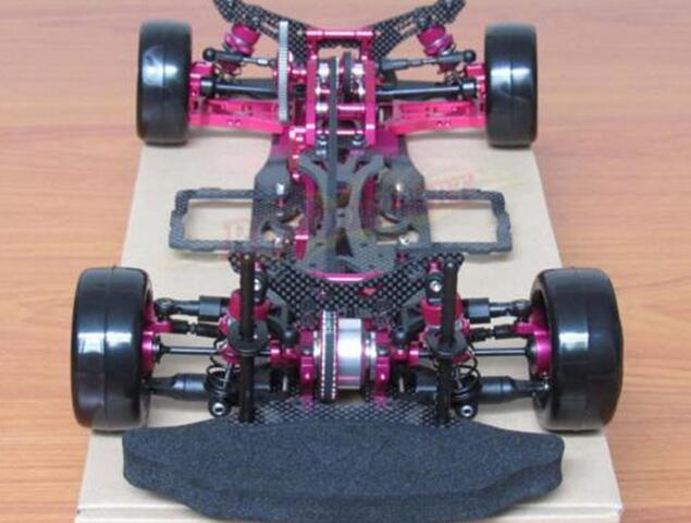 OEM 1/10 Alloy & Carbon SAKURA D4 AWD EP Drift Racing Car Frame Body Kit RC Control Car #KIT-D4AWD