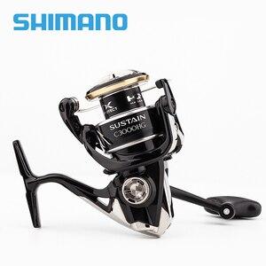 Image 2 - SHIMANO SUSTAIN 2500 2500HG 3000XG c3000HG 40004000XG C5000XG İplik balıkçılık Reel 8 + 1BB 6.0:1/6 2:1 X gemi ROTOR iplik makarası