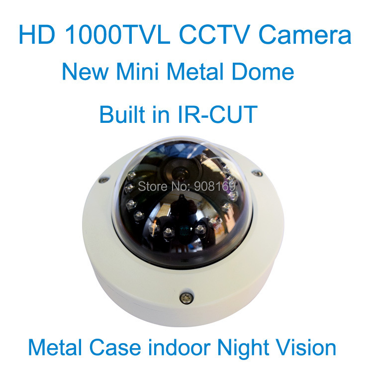 ФОТО Free shipping 1000TVL dome camera Color outdoor security CMOS IR camera CCTV Camera waterproof  camera with IR-CUT Free Shipping