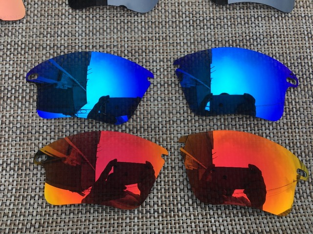 bd3439252f05b 2 Pairs Fire   Ice Blue Polarized Replacement Lenses Lens for Fast Jacket  XL Sunglasses