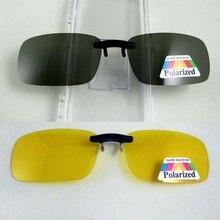 Супер свет поляризованные Солнцезащитные очки для женщин клип на желтый Ночное видение Очки унисекс глаз Очки клип Deep Green объектив aviate Drive очки