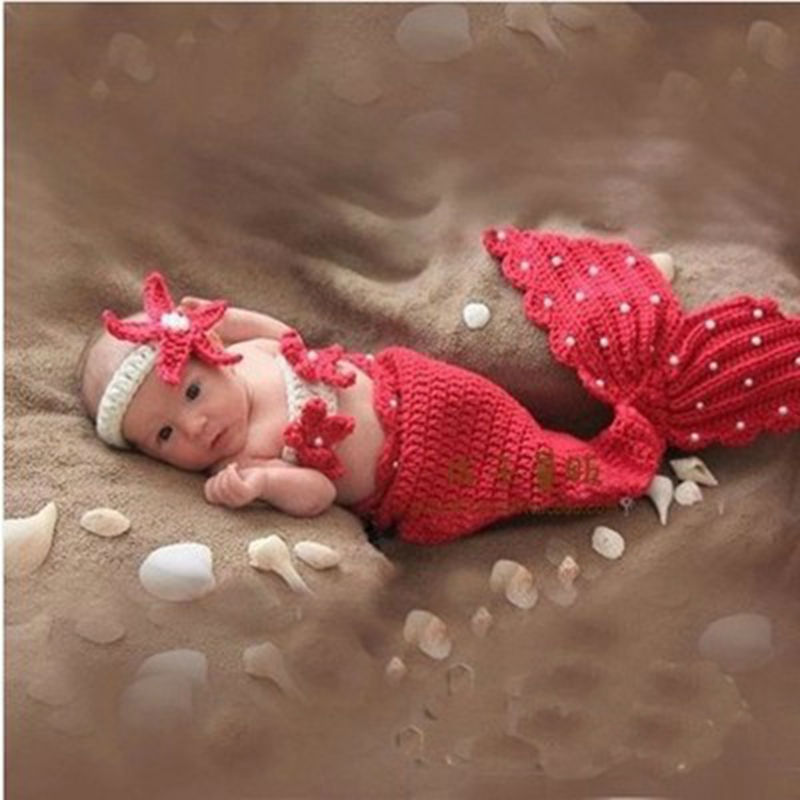 aliexpress com buy cute mermaid design red newborn photography