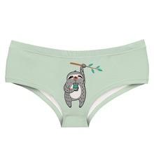 LEIMOLIS SLOTH GREEN funny print sexy hot panties female kawaii Lovely underwear push up briefs women lingerie thongs