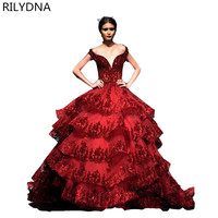 Luxury Tulle Ball Gown Sweet 16 Dresses Puffy Wine Red Quinceanera Dress 2019 Burgundy Vestidos de 15 anos Beads Crystal Princes