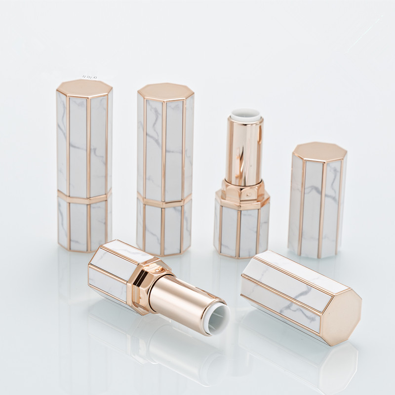 Marble Lipstick Tube 12.1mm Diy Lip Balm Tubes Homemade Lip Stick Beauty Lipstick Balm Containers Empty Cosmetic Birthday Makeup