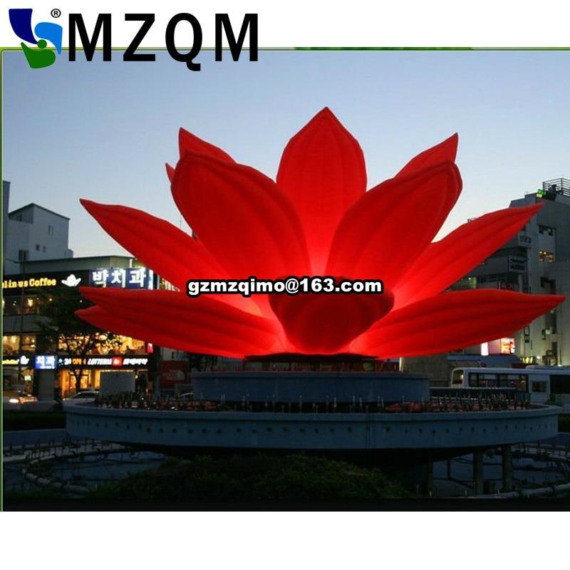 LED illuminated Lotus Inflatable Lighting Flower Product Party Decoration