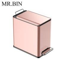 MR. BIN 6 литров педаль мусор может со съемной внутренней ведро современные Nordic Нержавеющая сталь мусорное ведро для дома и Кухня