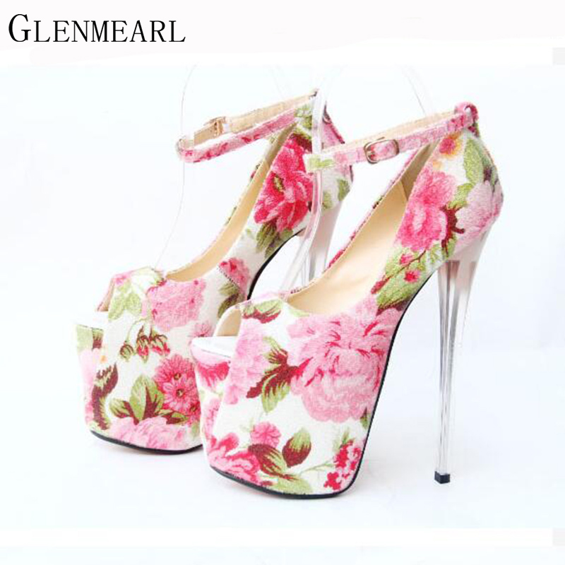 2017 Female Pumps Shoes Spring Fashion Sexy Brand Waterproof Fish Head Extreme High Heels Female High-heeled Shoes Size 43 XP20 europe and super high heels 14cm fashion shoes waterproof fish head sexy nightclub fine with plaid shoes