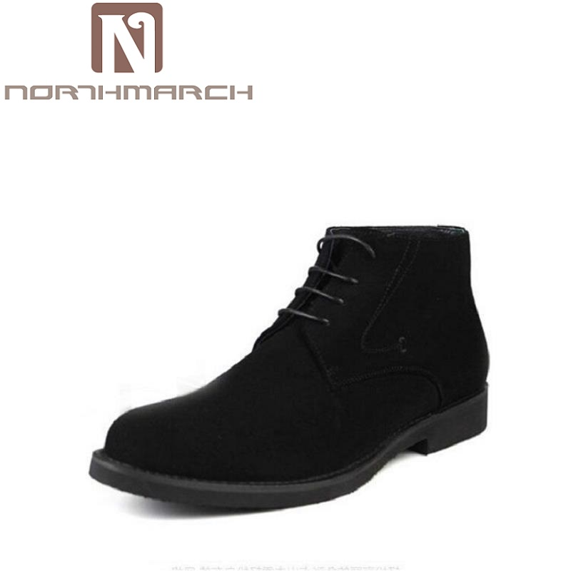 NORTHMARCH Brand Newest High Quality Genuine Leather Casual Men Shoes Business Brown Black Suede Leather Men Winter Boots benzelor men shoes 2017 spring autumn genuine leather business casual shoes quality brand massage sole black brown color hl67624
