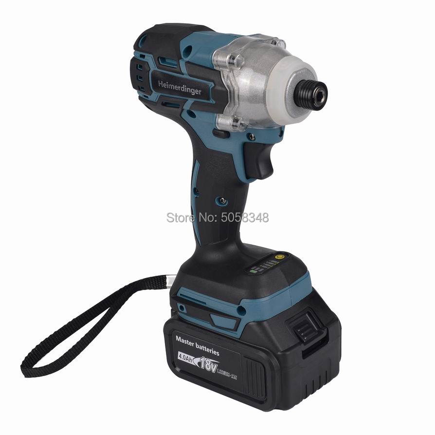 Image 4 - Electric Rechargeable cordless brushless impact driver drill with one 18V 4.0Ah Lithium Battery-in Electric Drills from Tools on