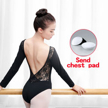 Sexy Lace Low Back Short Sleeve Ballet Leotard Women Adult Girls Cotton Gymnastics Dance Ladies Bodysuit Slim